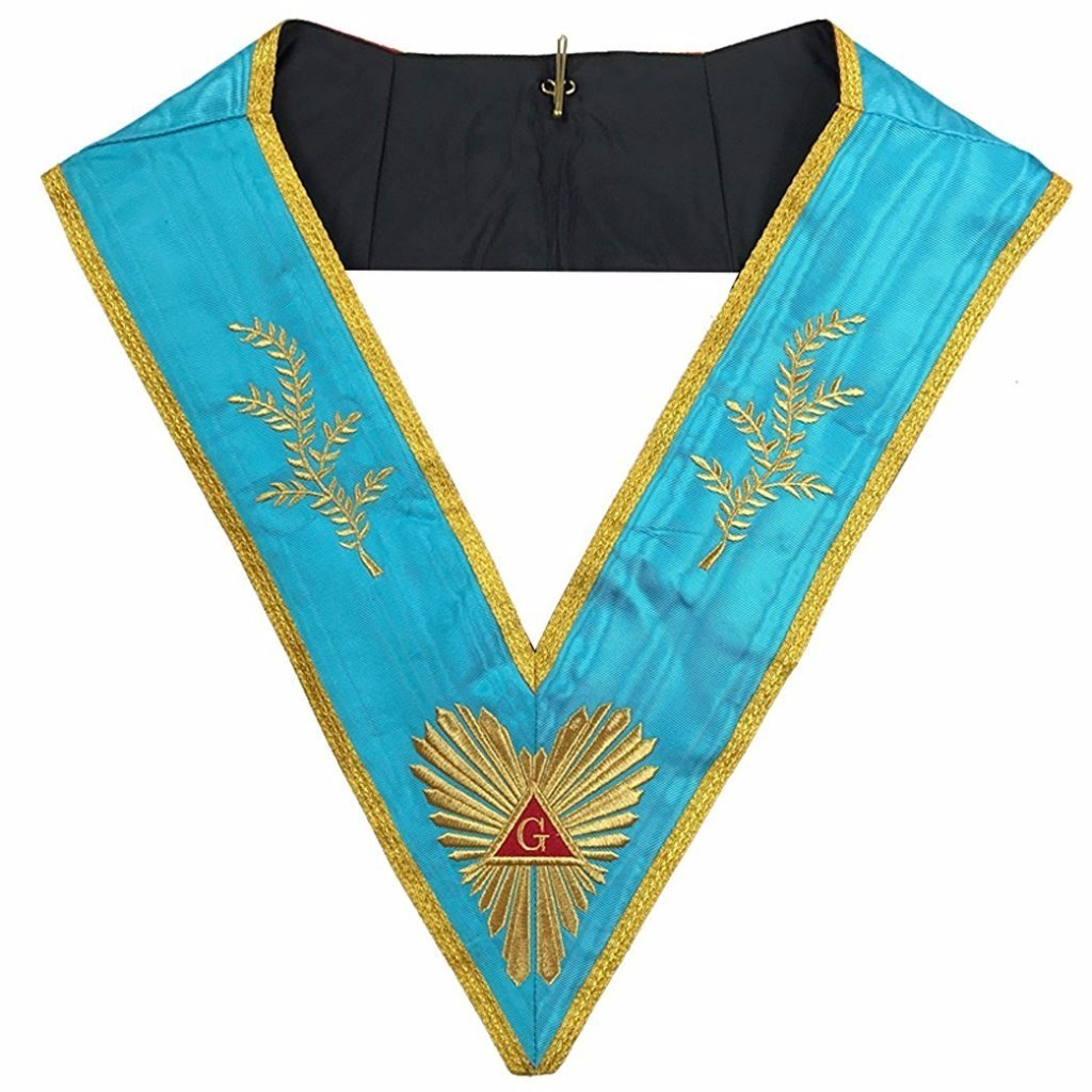 Masonic Memphis Misraim Past Master Worshipful collar Machine embroidery - Bricks Masons