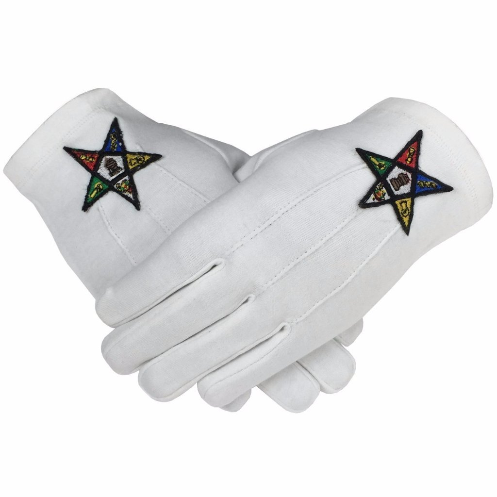 Masonic OES Order of the Eastern Star 100% Cotton Glove - Bricks Masons