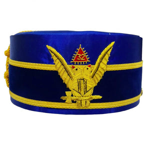 32nd Degree Scottish Rite Wings UP Blue Cap Bullion Hand Embroidery - Bricks Masons