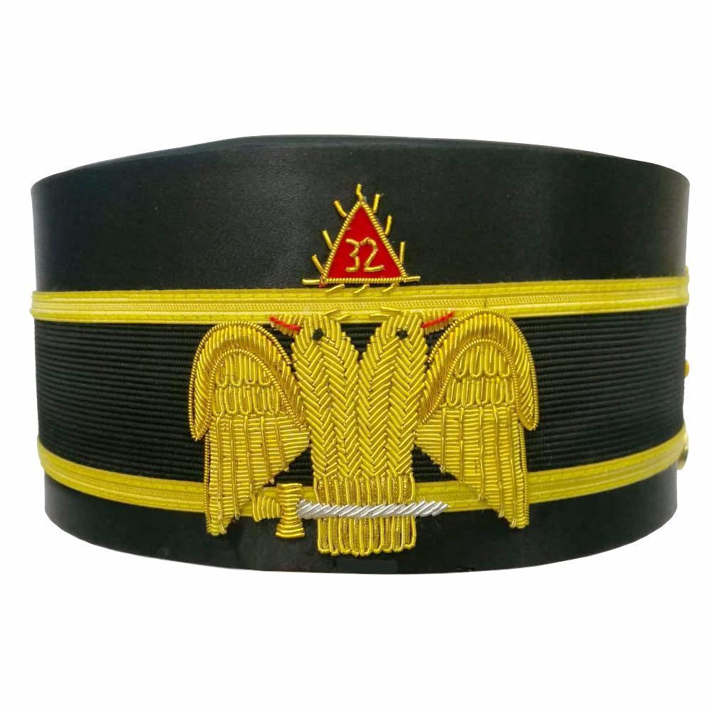 32nd Degree Wings DOWN Scottish Rite Double-Eagle Cap Hand Embroidery Bullion - Bricks Masons