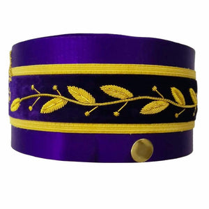 33rd Degree Scottish Rite Purple Cap Hand Embroidery Bullion - Bricks Masons