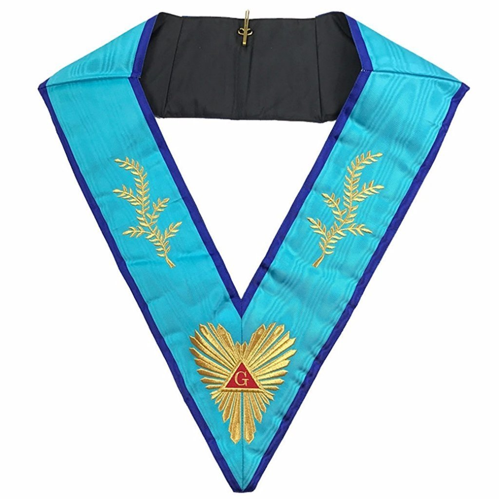 Masonic Memphis Misraim Worshipful Master Collar Machine embroidery - Bricks Masons