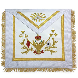 Rose Croix SCOTTISH RITE 33rd Degree Hand embroidered Apron Set 'WINGS UP' All Countries Flags - Bricks Masons