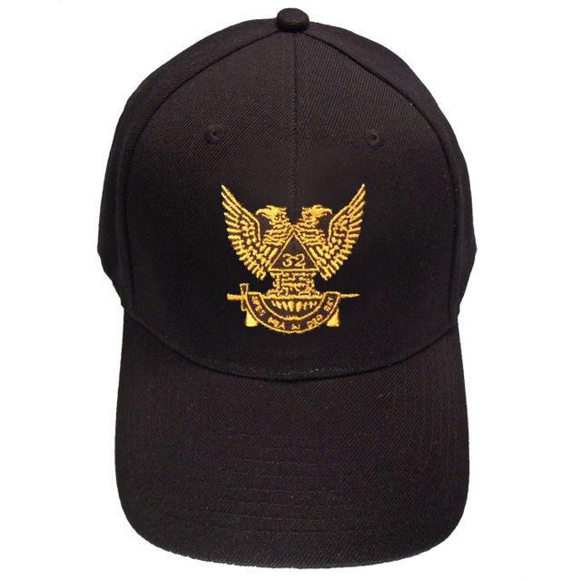 Scottish Rite Wings UP 32nd degree Masonic Baseball Cap - Bricks Masons