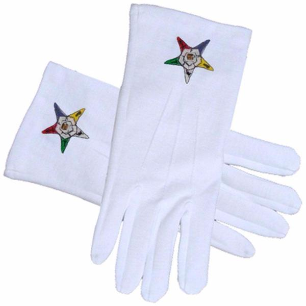 ORDER of the EASTERN STAR OES Masonic Gloves - Bricks Masons
