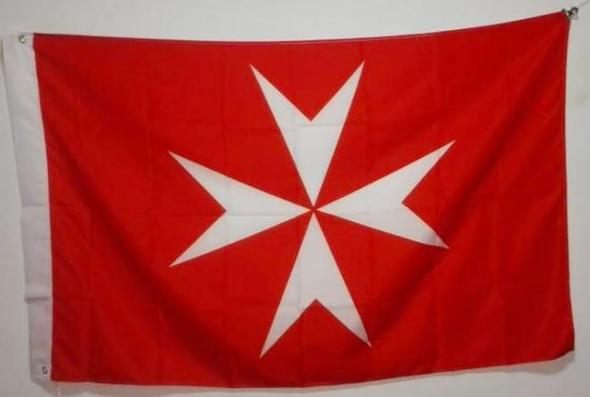 Knights of Malta Masonic Flag Red - Bricks Masons
