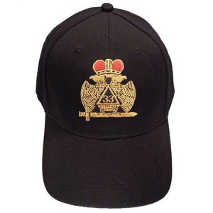 Scottish Rite Wings DOWN 33rd degree Masonic Baseball Cap