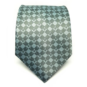 Masonic Regalia Squared Freemasons Tie - Bricks Masons