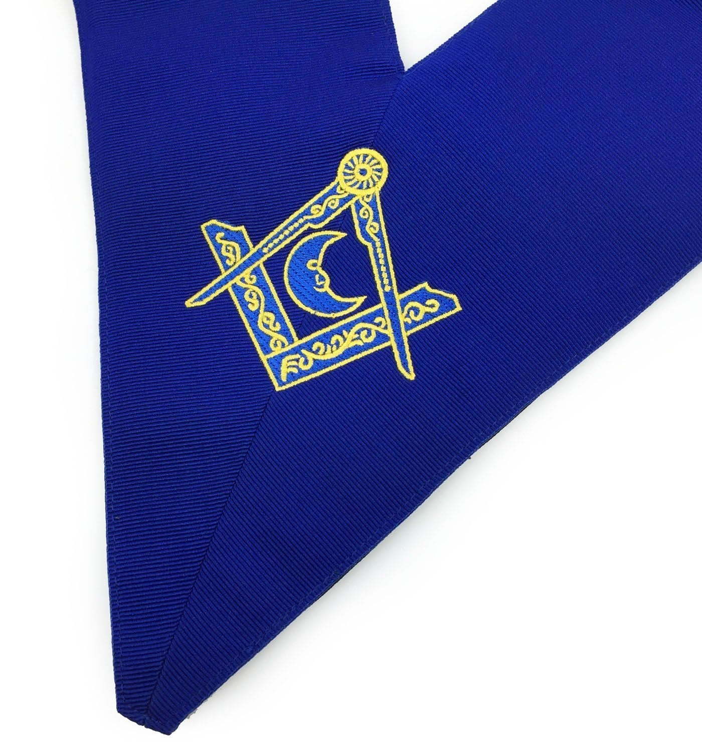 Blue Lodge Officers Collar Set of 12 Machine Embroidery Collars - Bricks Masons