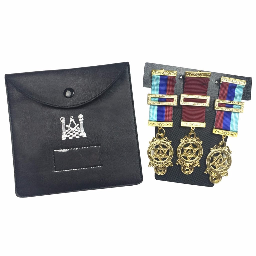 Quality Masonic Regalia Pocket Jewel Holder / Wallet masonic carry case - Medium - Bricks Masons
