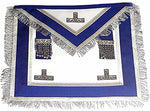 Centennial/Canadian MM/PM Worshipful Royal Blue Apron Silver Fringe - Bricks Masons