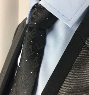 Masonic Regalia Tie with Polkadot - Bricks Masons
