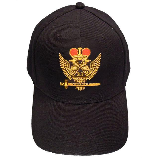 Scottish Rite Wings UP 33rd degree Masonic Baseball Cap - Bricks Masons