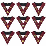 Masonic Blue Lodge 14th Degree Collars- Set of 9 collar - Bricks Masons