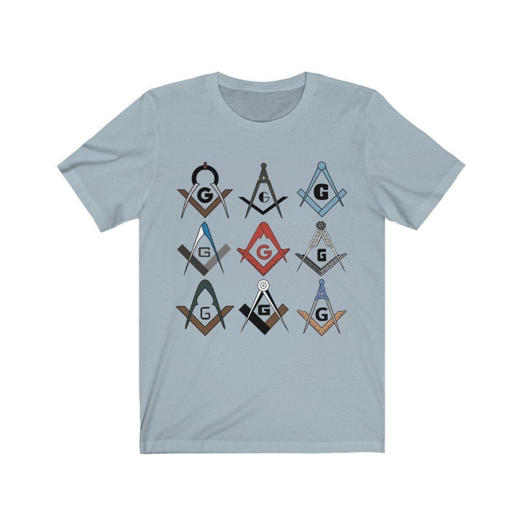 Square & Compass Symbols Masonic T-Shirt - Bricks Masons