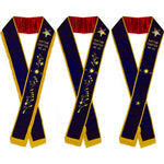Associate Matron - Hand Embroidered OES Purple Velvet Sashes - Bricks Masons