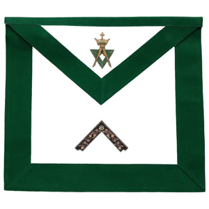 Allied Masonic Degree AMD Hand Embroidered Officer Apron - Worshipful Master - Bricks Masons