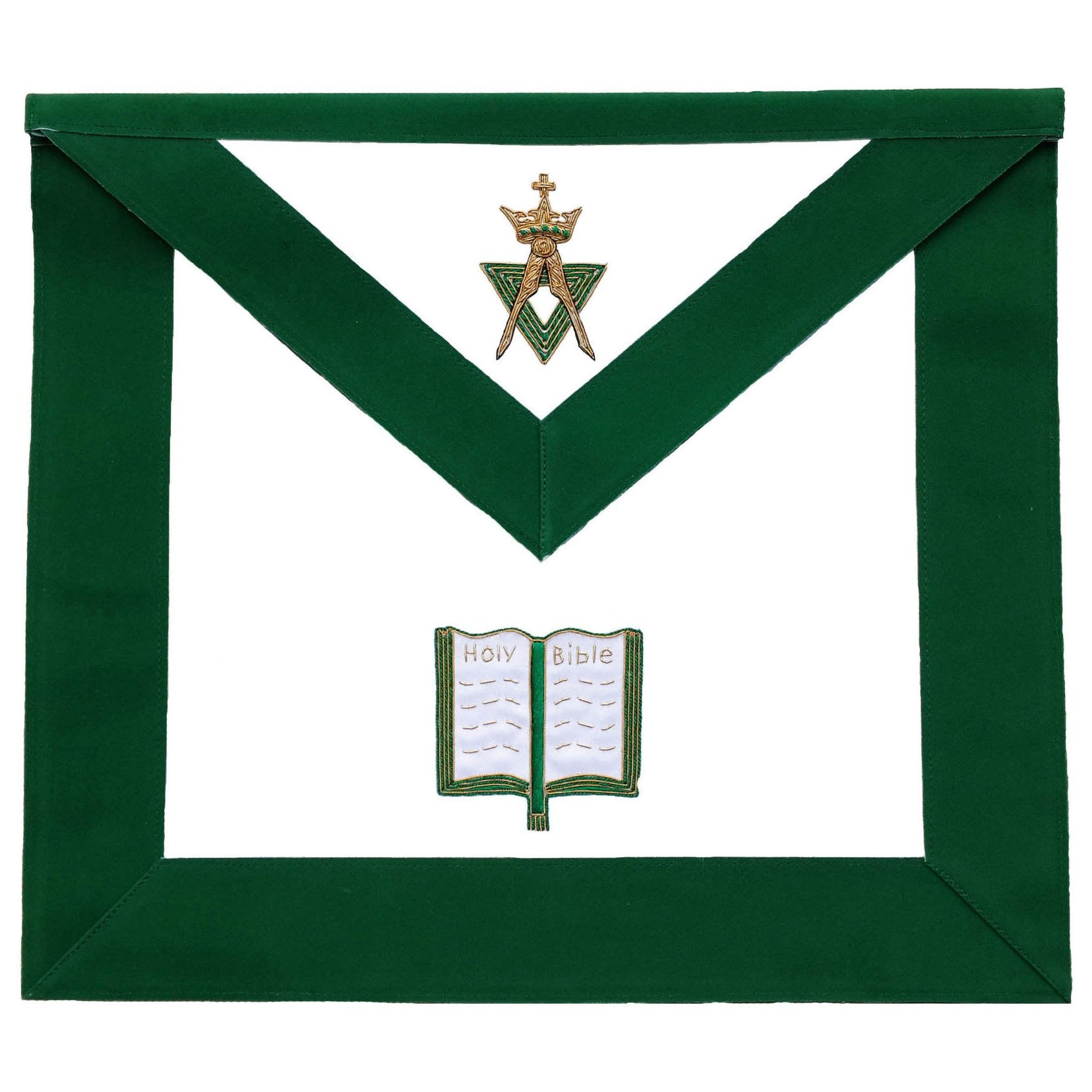 Allied Masonic Degree AMD Hand Embroidered Officer Apron - Chaplain - Bricks Masons