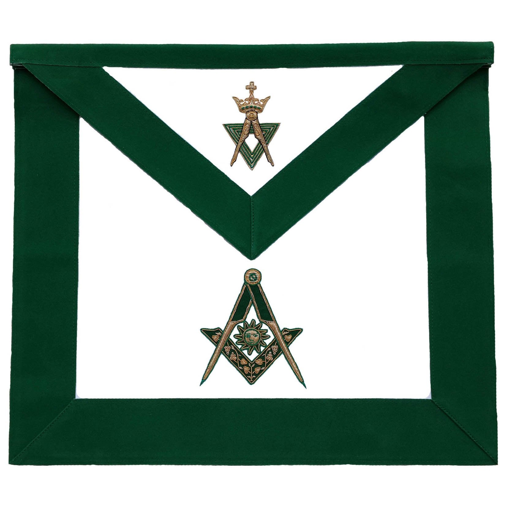 Allied Masonic Degree AMD Hand Embroidered Officer Apron - Senior Deacon