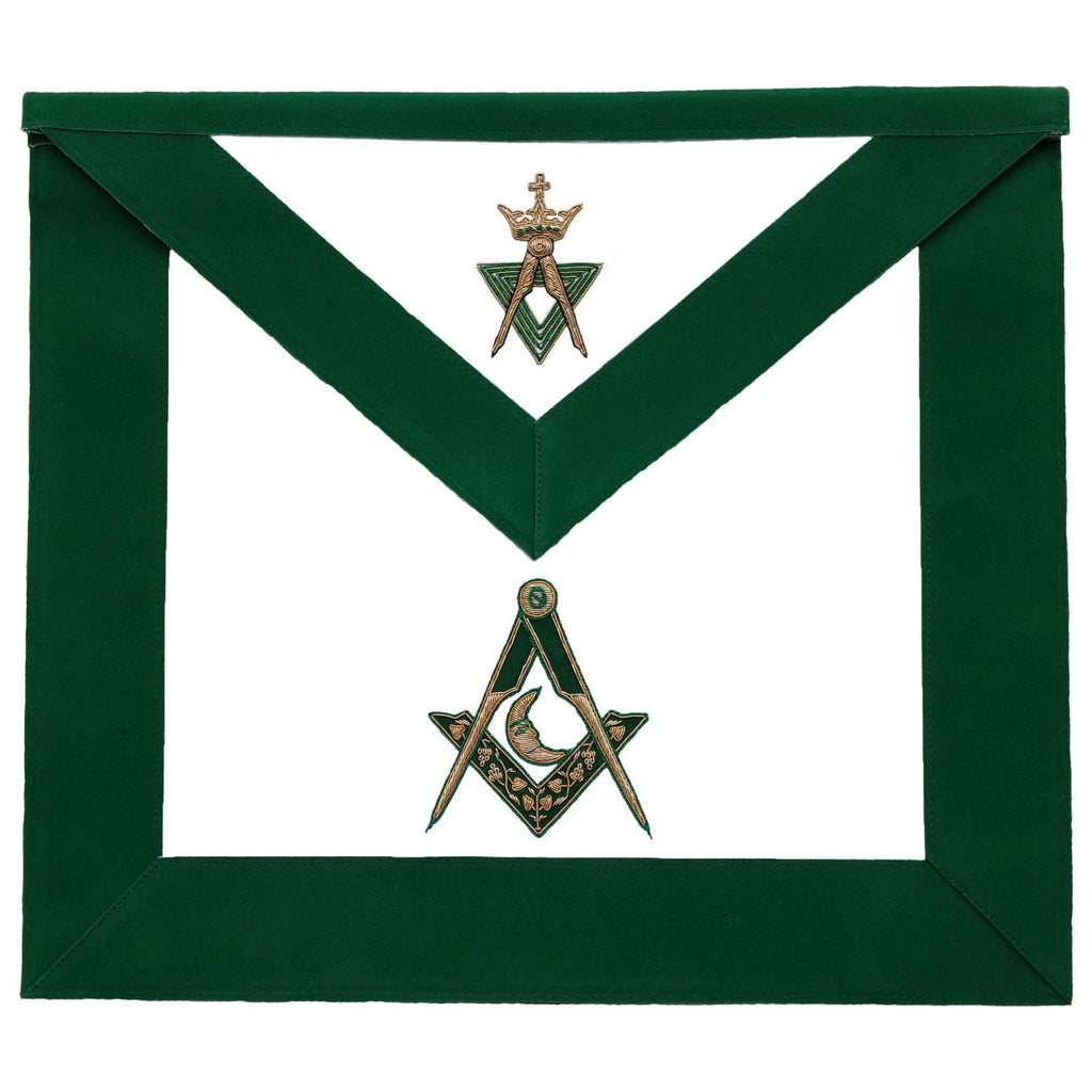 Allied Masonic Degree AMD Hand Embroidered Officer Apron - Junior Deacon - Bricks Masons