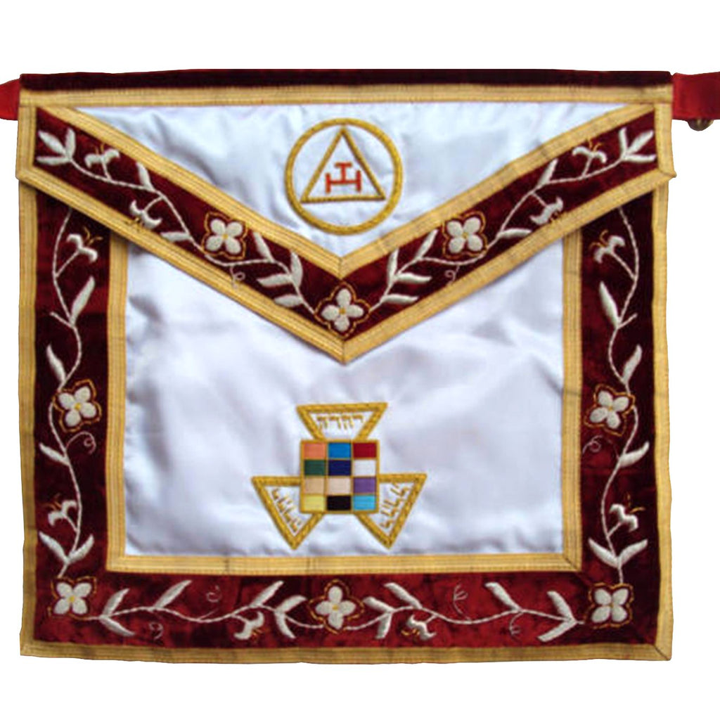 Hand Embroided Masonic Royal Arch PHP Apron - Bricks Masons