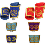 Royal Antediluvian Order of Buffaloes RAOB - Gauntlets / Cuffs - Bricks Masons