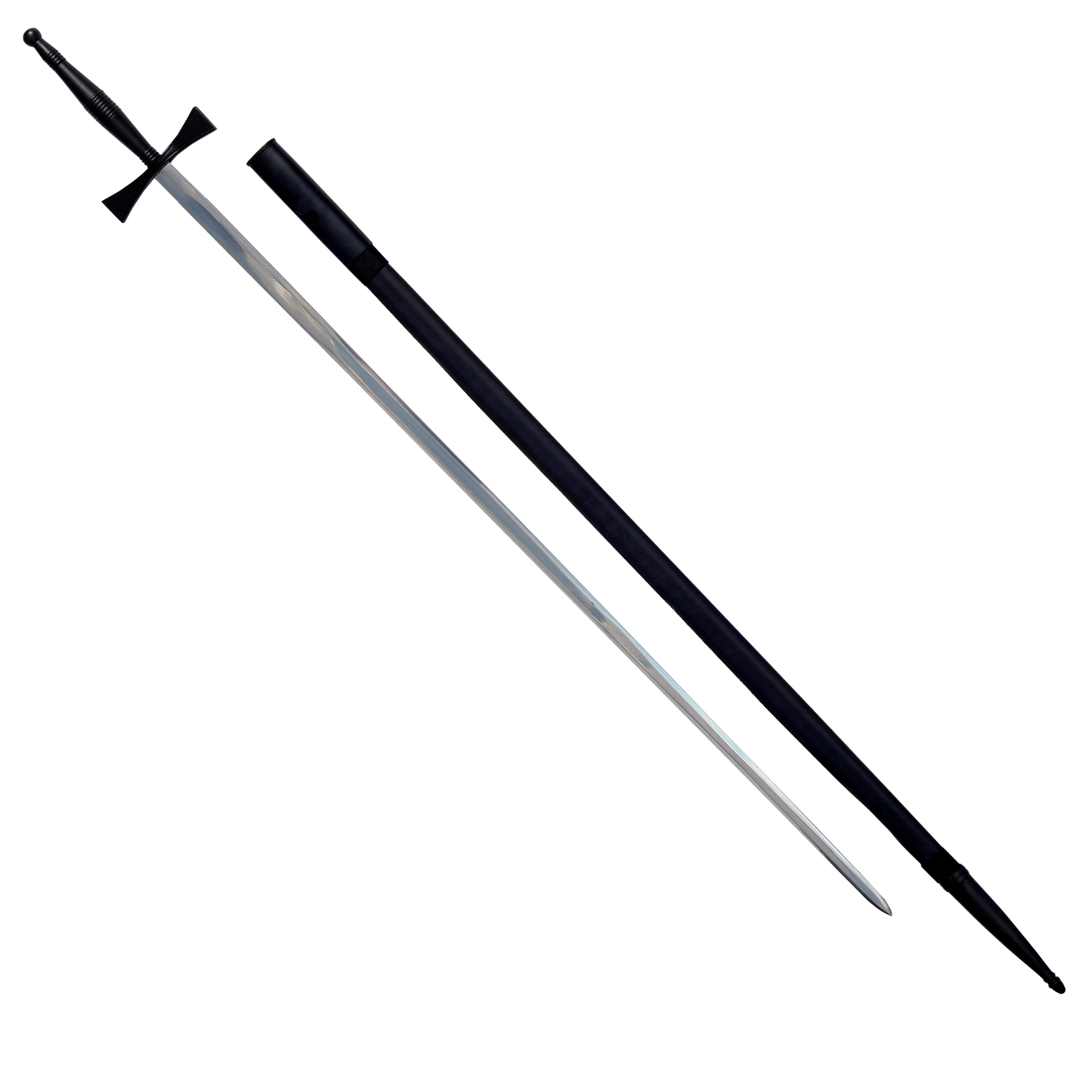 "Masonic Sword with Black Hilt and Black Scabbard 35 3/4"" + Free Case"
