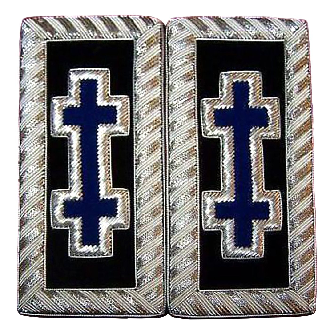 Knights Templar Shoulder Boards - Bullion Embroidery - Bricks Masons