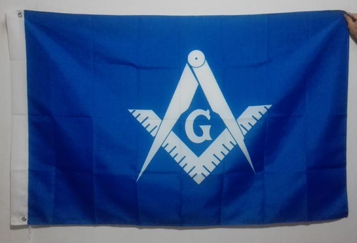 White and Blue Masonic Flag