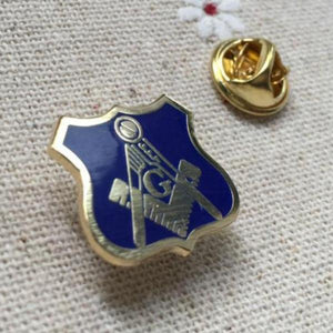 Blue Lodge Badge Square and Compass with G Masonic Lapel Pin - Bricks Masons