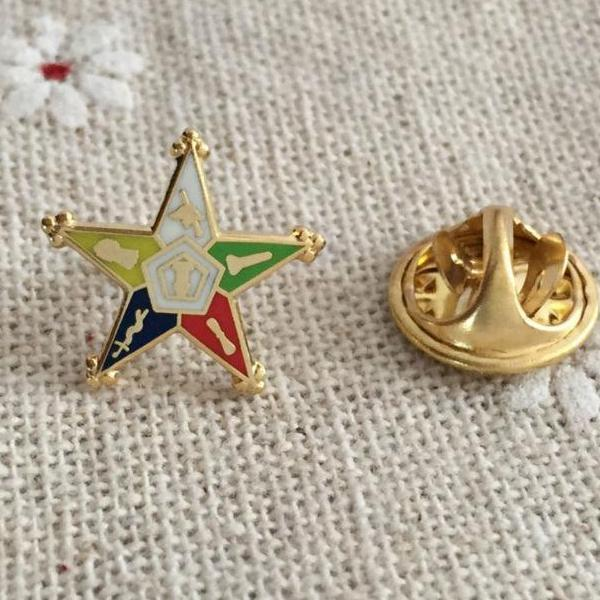 Order of the Eastern Star Masonic Lapel Pin - Bricks Masons