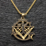 VIRTUTE ET.SILENTIO Masonic Necklace - Bricks Masons