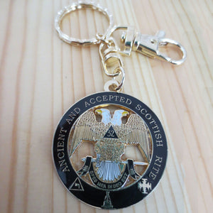Ancient and Accepted Scottish Masonic Key Chain - Bricks Masons