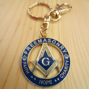 Freemasonry Faith Hope Charity Masonic Key Chain - Bricks Masons