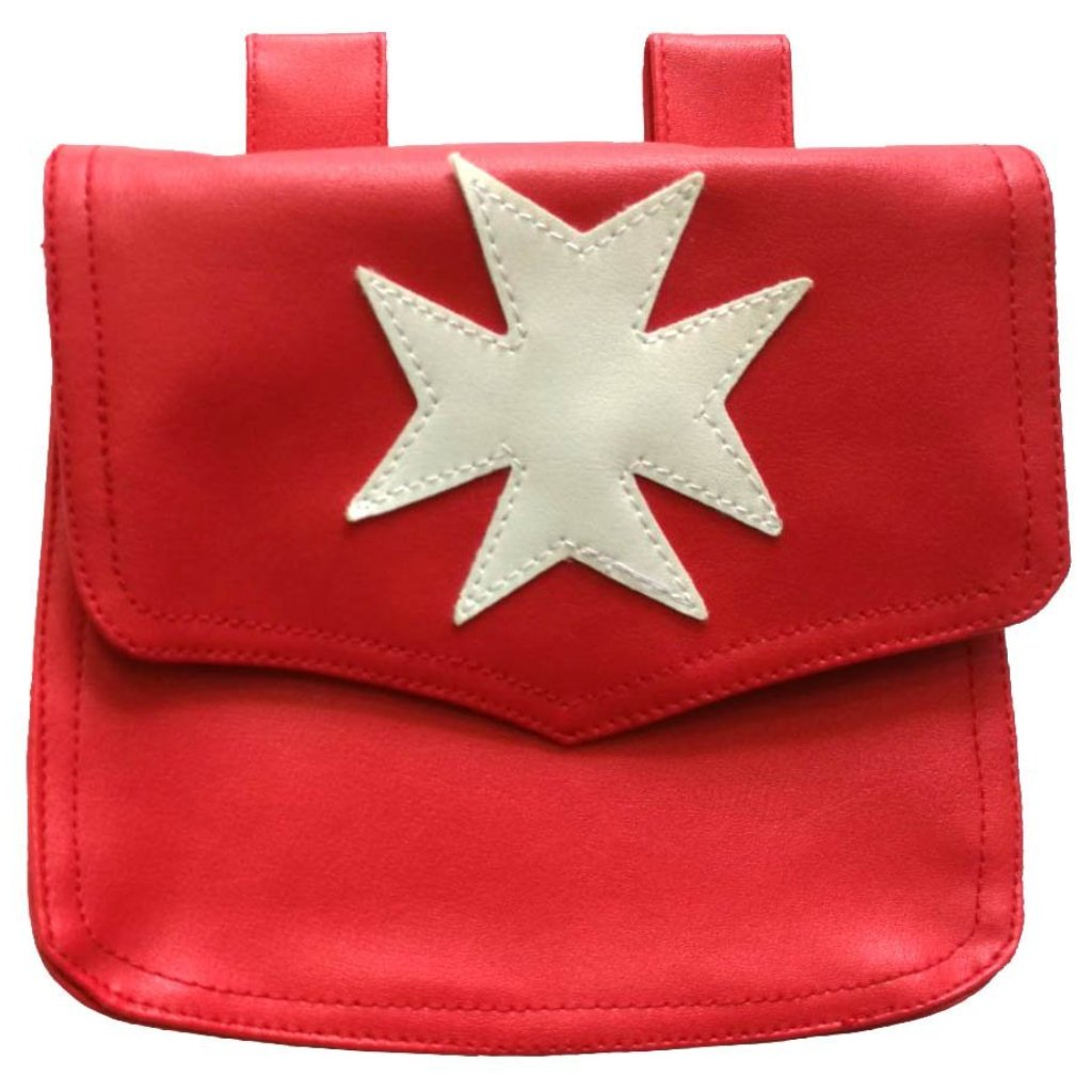 Knights Malta Alms Bag Red - Bricks Masons