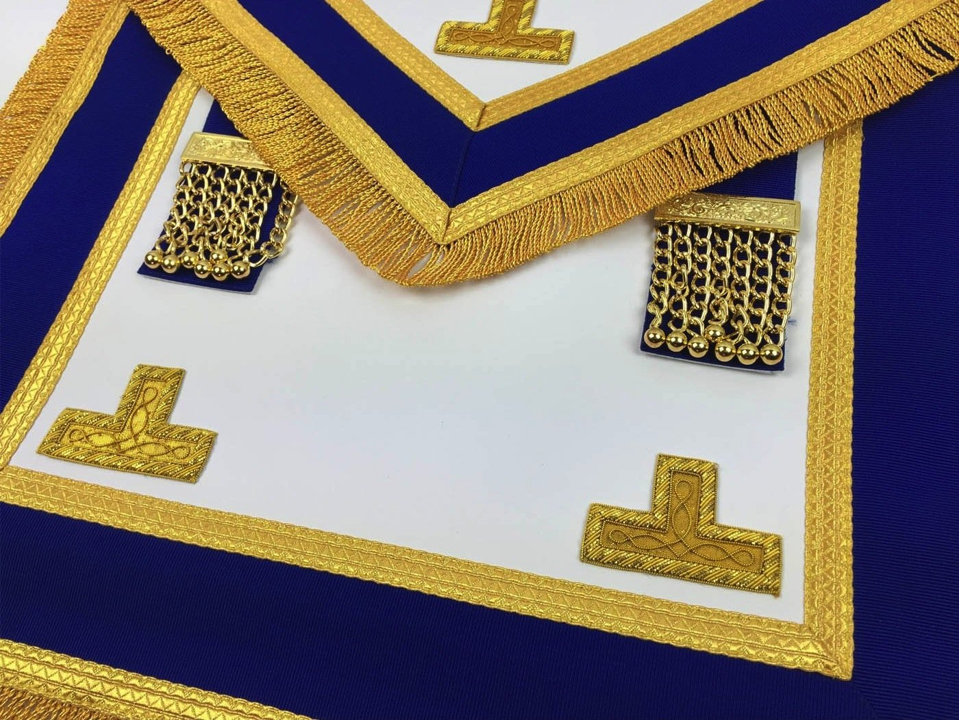 Masonic Craft Provincial Full Dress Apron and Collar with free Glove - Bricks Masons