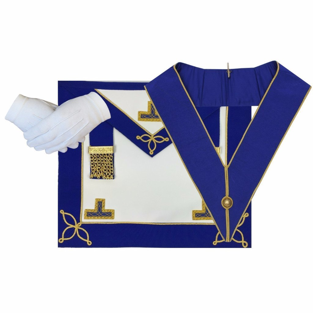 Masonic Craft Provincial Undress Apron and Collar with Gloves - Bricks Masons