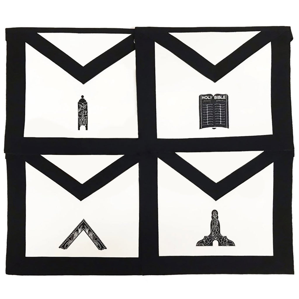 Masonic Funeral Members Apron Set