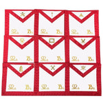 Masonic Scottish Rite Officers Apron Set of 9 AASR (REAA) - Bricks Masons