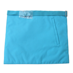 Master Mason French Rite / Modern Rite Pyramid Silk Apron - Sky Blue - Bricks Masons