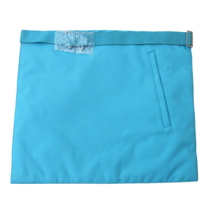 Master Mason French Rite / Modern Rite Pyramid G Silk Apron - Sky Blue - Bricks Masons