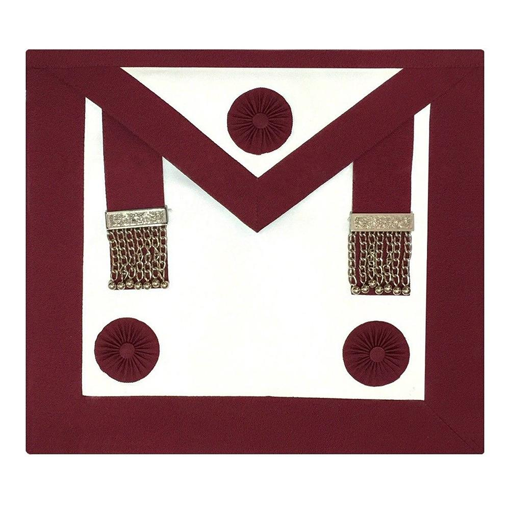 Provincial Stewards Apron (Rosettes) - Bricks Masons