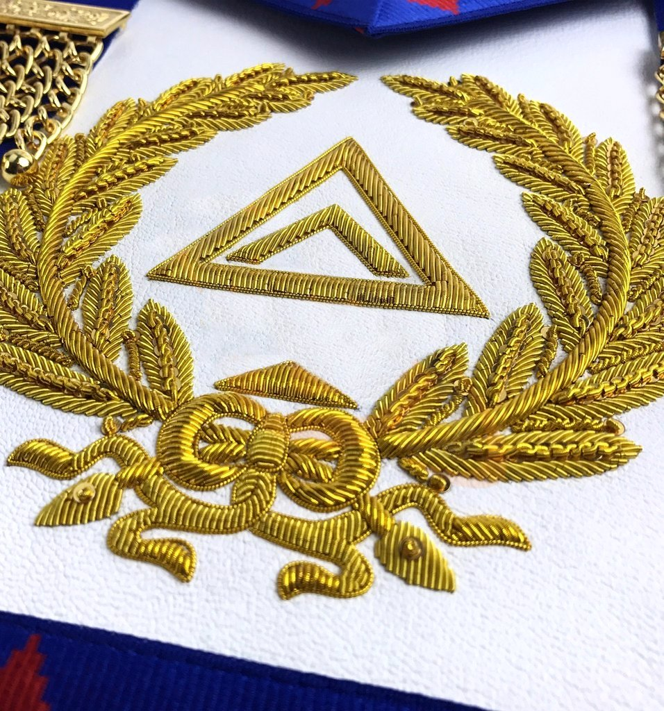 High Quality Royal Arch Grand Chapter Apron - Bricks Masons