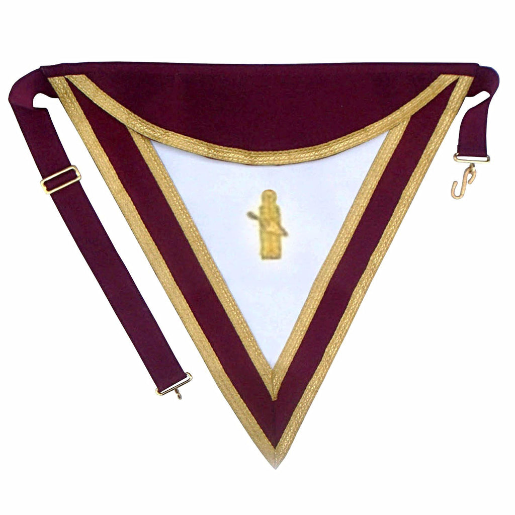 Royal & Select Masters Grand Council Apron - Bricks Masons