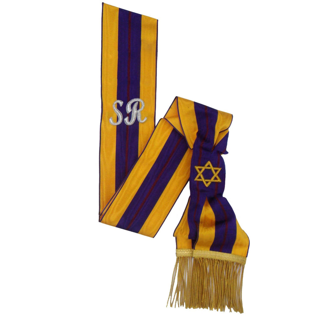 Order Of The Secret Monitor - Member - Past Supreme Ruler Sash - Bricks Masons