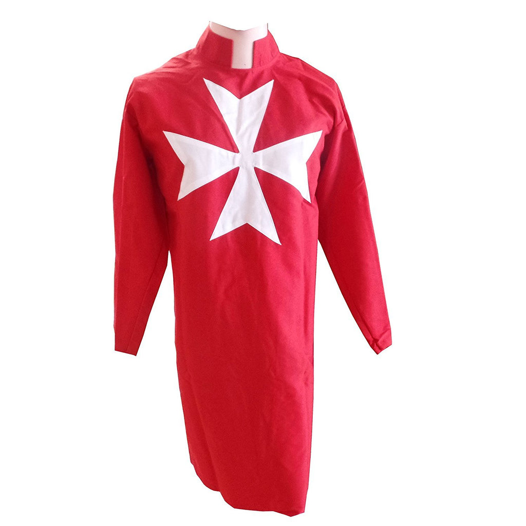 Masonic Knight Malta Tunic Red with (8 pointed) Malta Cross - Bricks Masons