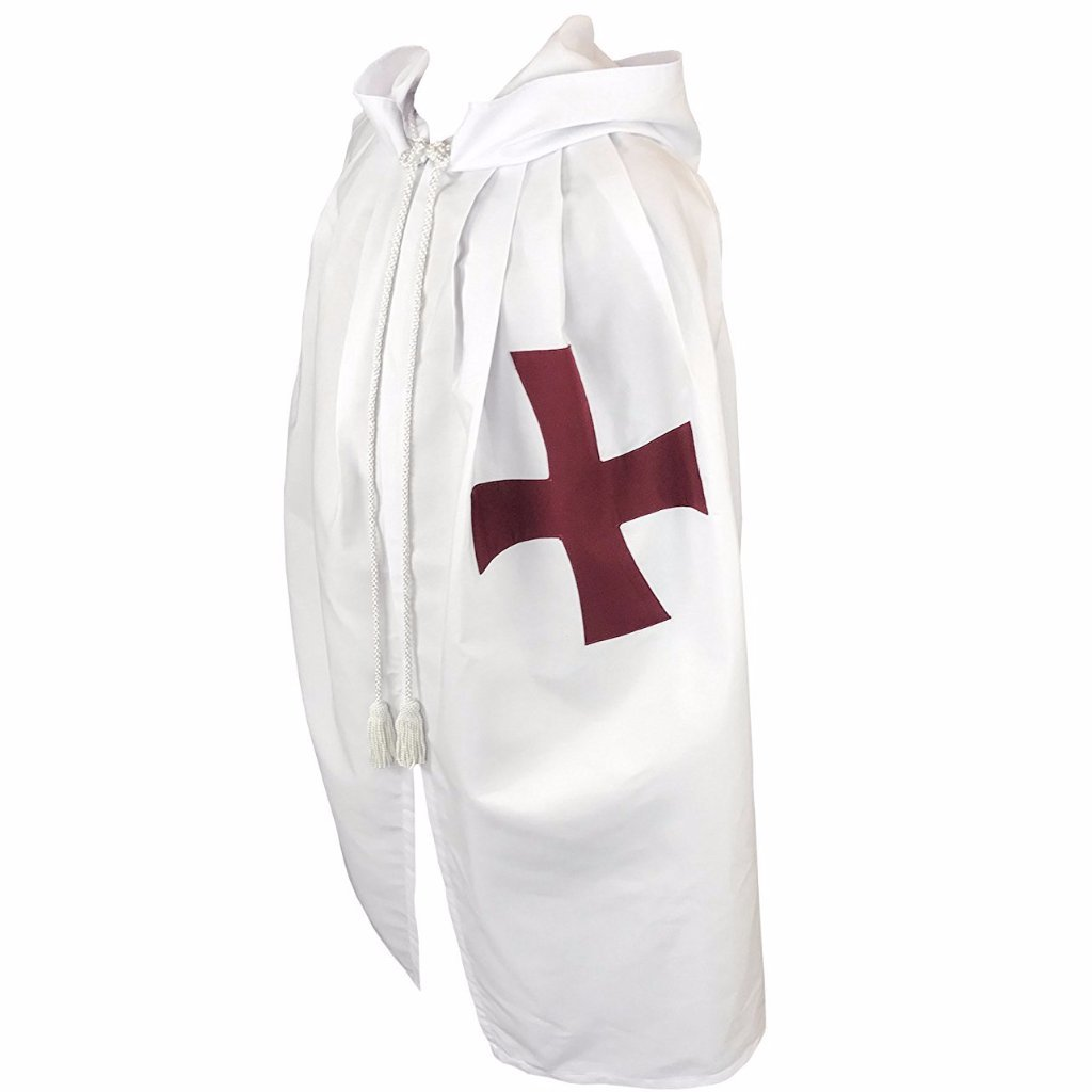 Masonic Knight Templar Cloak Mantle with Red Cross - Bricks Masons