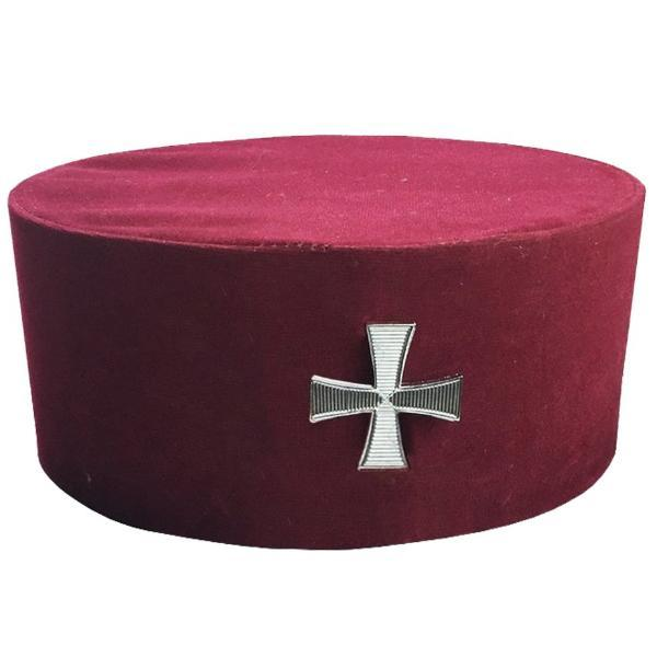 Masonic Knight Templar KT Cap/Hat with Cross - Bricks Masons