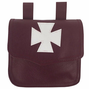 Knights Templar Alms Bag Brown - Bricks Masons