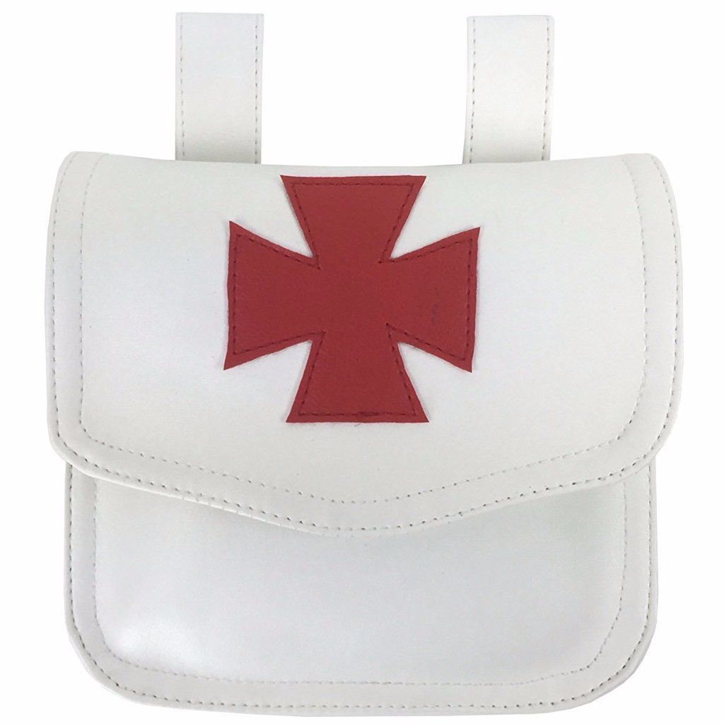 Knight Templar Alms Bag White - Bricks Masons